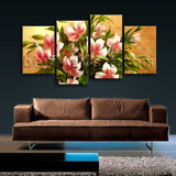 Large Igor Levashov Flower Painting Picture Impressionist Four Pieces Print