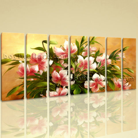 Extra Large Igor Levashov Flower Painting Picture Home Decor 7 Panels Print