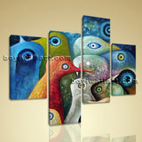Large Abstract Birds Canvas Art Painting Bedroom Tetraptych Pieces Print