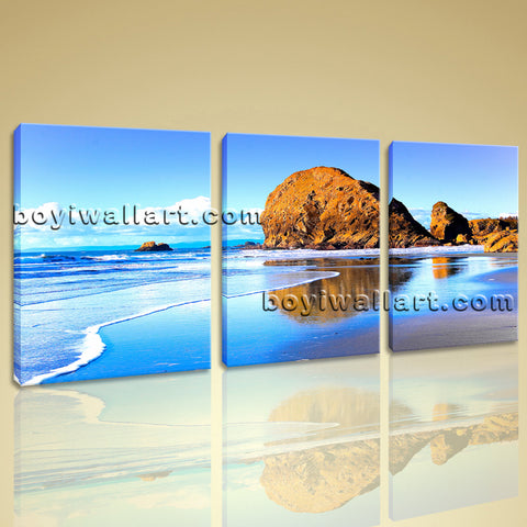 Large Nature Landscape Beac Hbeach Wall Art Oil Painting 1 Panels Print
