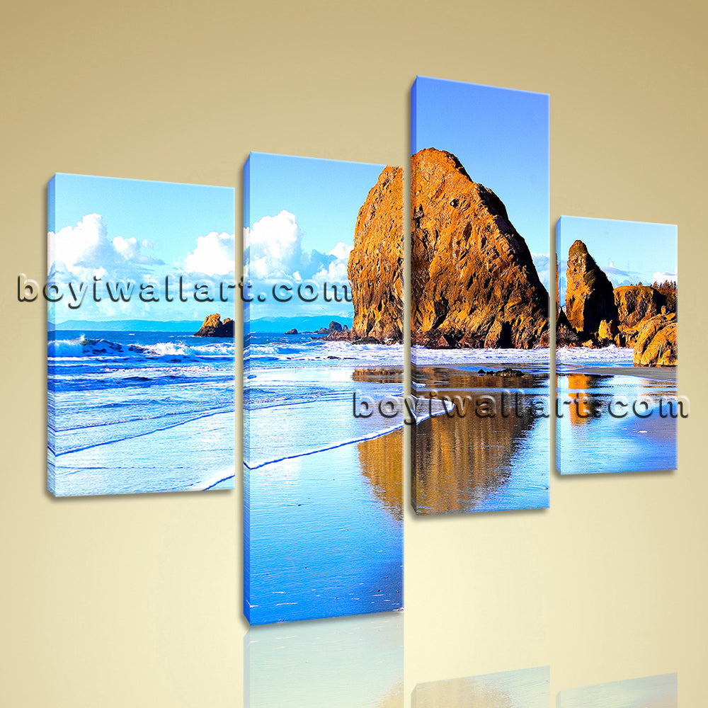 Large Nature Landscape Beac Hbeach Canvas Art Painting Bedroom Four Pieces Print