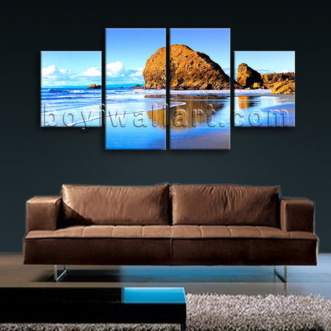 Large Nature Landscape Beac Hbeach Hd Print Home Decor Dining Room Canvas