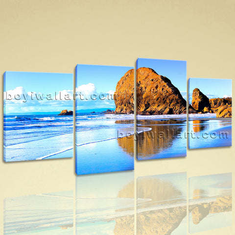 Large Nature Landscape Beac Hbeach Canvas Art Wall Living Room Four Pieces Print