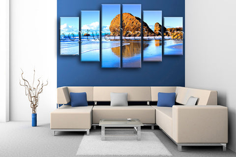 Extra Large Nature Landscape Beac Hbeach Canvas Art Painting Dining Room Print