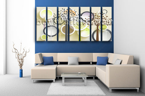 Extra Large Contemporary Abstract Wall Art Hd Print Living Room 7 Panels Giclee