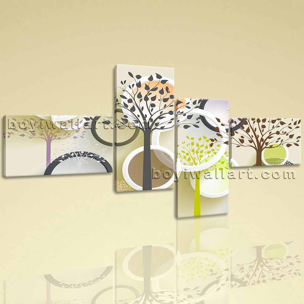 Extra Large Contemporary Abstract Wall Art Canvas Home Decor 4 Pieces Print