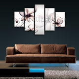 Large Living Room Mural Flower Wall Art Tulip Flowers Dining Five Panels Print