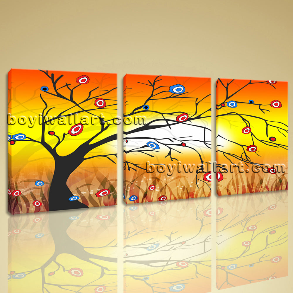 Large Modern Abstract Tree Wall Art Decor Living Room 1 Pieces ...