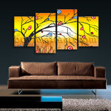 Large Modern Abstract Tree Painting Canvas Art Living Room Prints