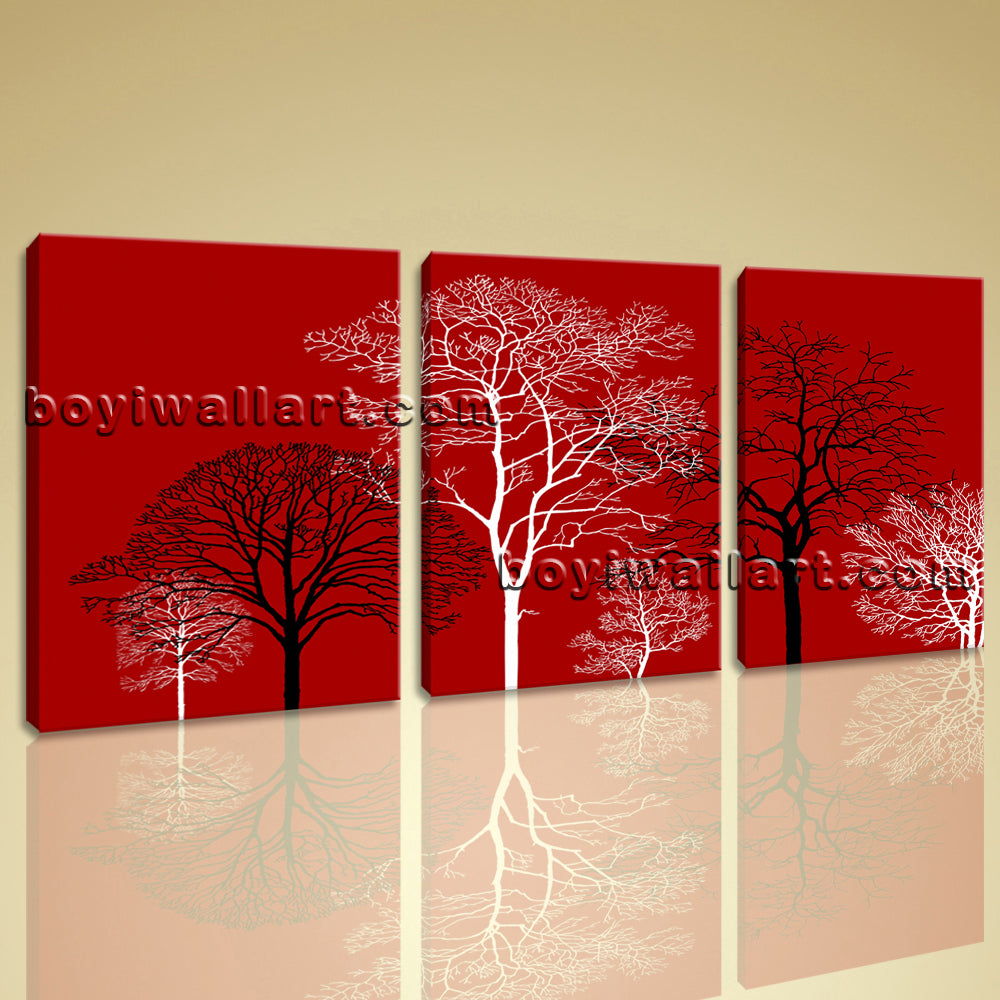 Large Abstract Murals For Wall Floral Canvas Art Modern Triptych Panels Prints