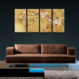 Large Tulips In Bloom Abstract Hd Print Classic Painting Tetraptych Panels Art