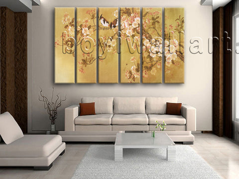 Large Tulips In Bloom Abstract Wall Decor Classic Art Six Panels Prints