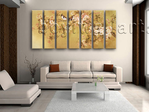 Extra Large Tulips In Bloom Abstract Wall Art Classic Painting 7 Pieces Print