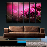 Large Purple Daisy Flower Hd Print Oil Painting Living Room 6 Pieces Prints