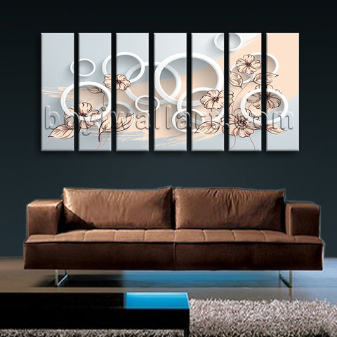 Extra Large Abstract Wall Art Hd Print Painting On Canvas Living Room 7 Pieces