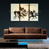 Large Horse Painting Wall Decor Classic Bedroom 1 Pieces Giclee Prints