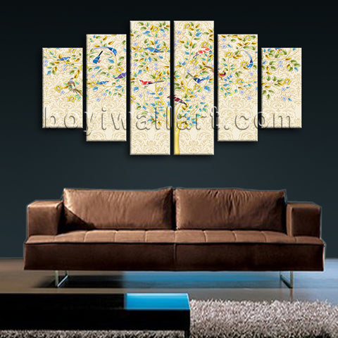 Extra Large Carta Da Parati Tree Wall Decor Abstract Art Dining Room Print