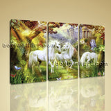 Large Unicorn Horse Canvas Art Classic Wall Decor Bedroom 1 Panels Print