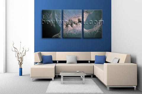 Large Kiss Love Figure Hd Print Contemporary Canvas Art Living Room Three Pieces