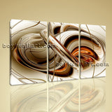 Large Melting Gold Abstract Wall Art Modern Decor Bedroom 1 Panels Canvas Print