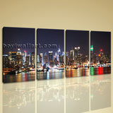 Large New York Skyline Wall Art Photography Decor Bedroom Print