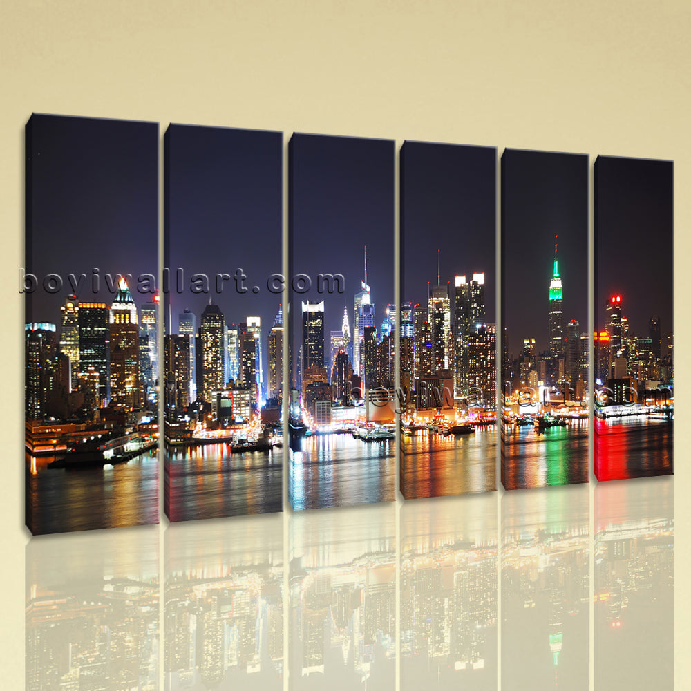Large New York Skyline Canvas Art Photography Wall Living Room Prints