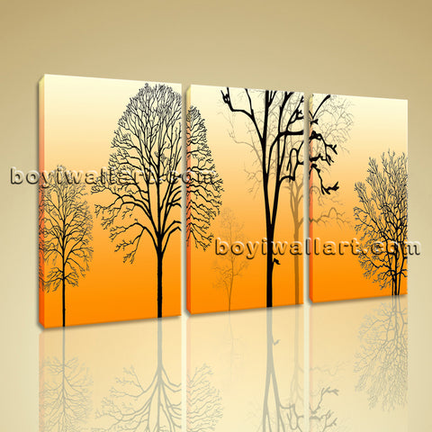Large Modern Abstract Tree Wall Art Oil Painting Bedroom 1 Pieces Prints