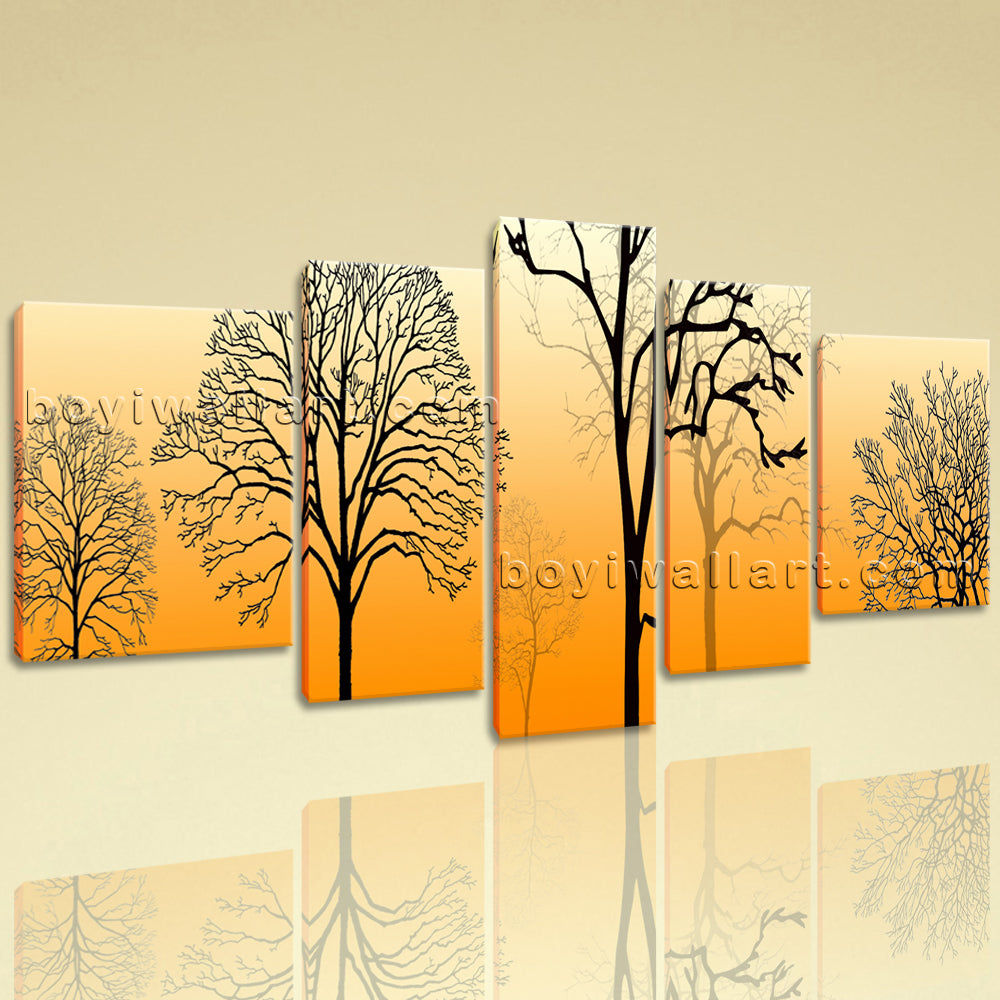 Extra Large Modern Abstract Tree Picture Wall Decor Living Room 5 ...