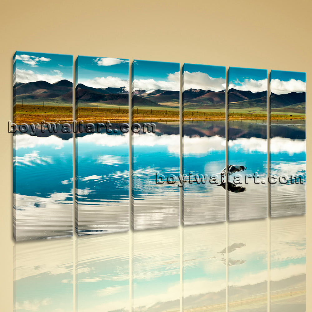 Amazing Landscape Large Wall Art Decor HD Picture Print Canvas Tibet Mountain