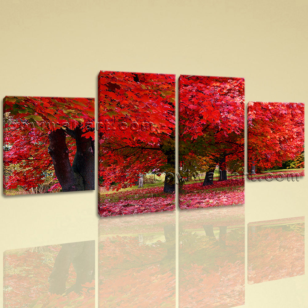 Large Landscape Hd Print Picture Wall Decor Dining Room Tetraptych Panels Giclee