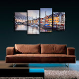 Large Contemporary Canvas Wall Art Print Painting Italy City Venice HD Picture