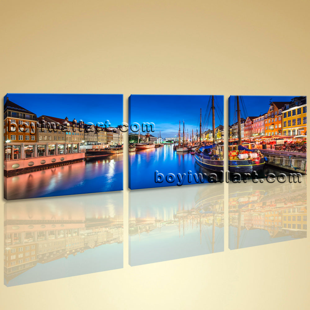 Large Canvas Wall Art Print Painting Italy Venice Night HD Picture Home Decor