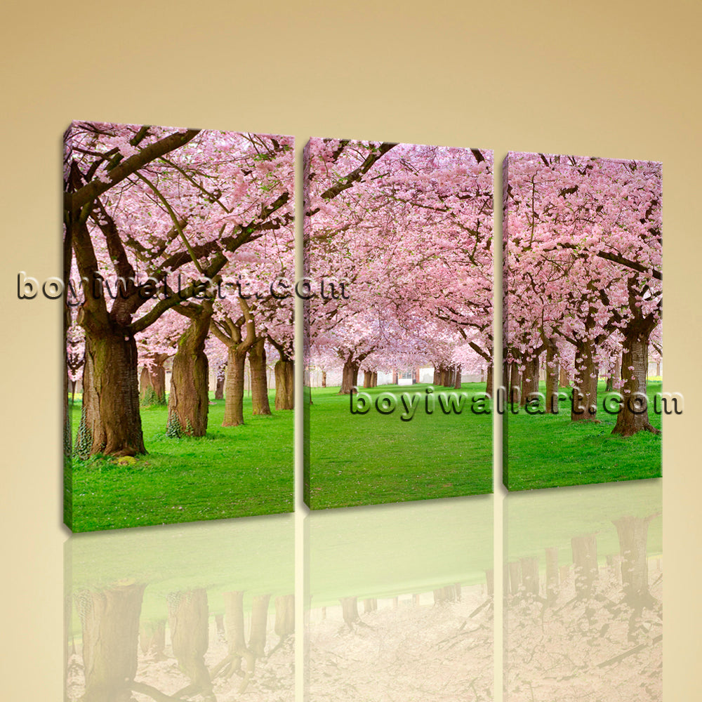 Large Contemporary Landscape HD Picture Print On Canvas Wall Art Autumn Trees
