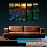 Large Wall Art On Canvas HD Print Picture Modern Contemporary Landscape Sunset