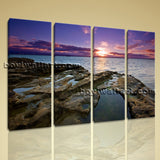 Large Contemporary Modern Wall Art Print On Canvas Beach Seascape HD Picture