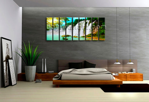 Large Wall Art Print On Canvas HD Landscape Waterfall Contemporary Home Decor