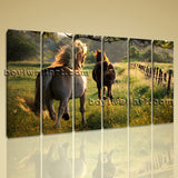 Large Contemporary Wall Art HD Print On Canvas Animal Horse Landscape Home Decor