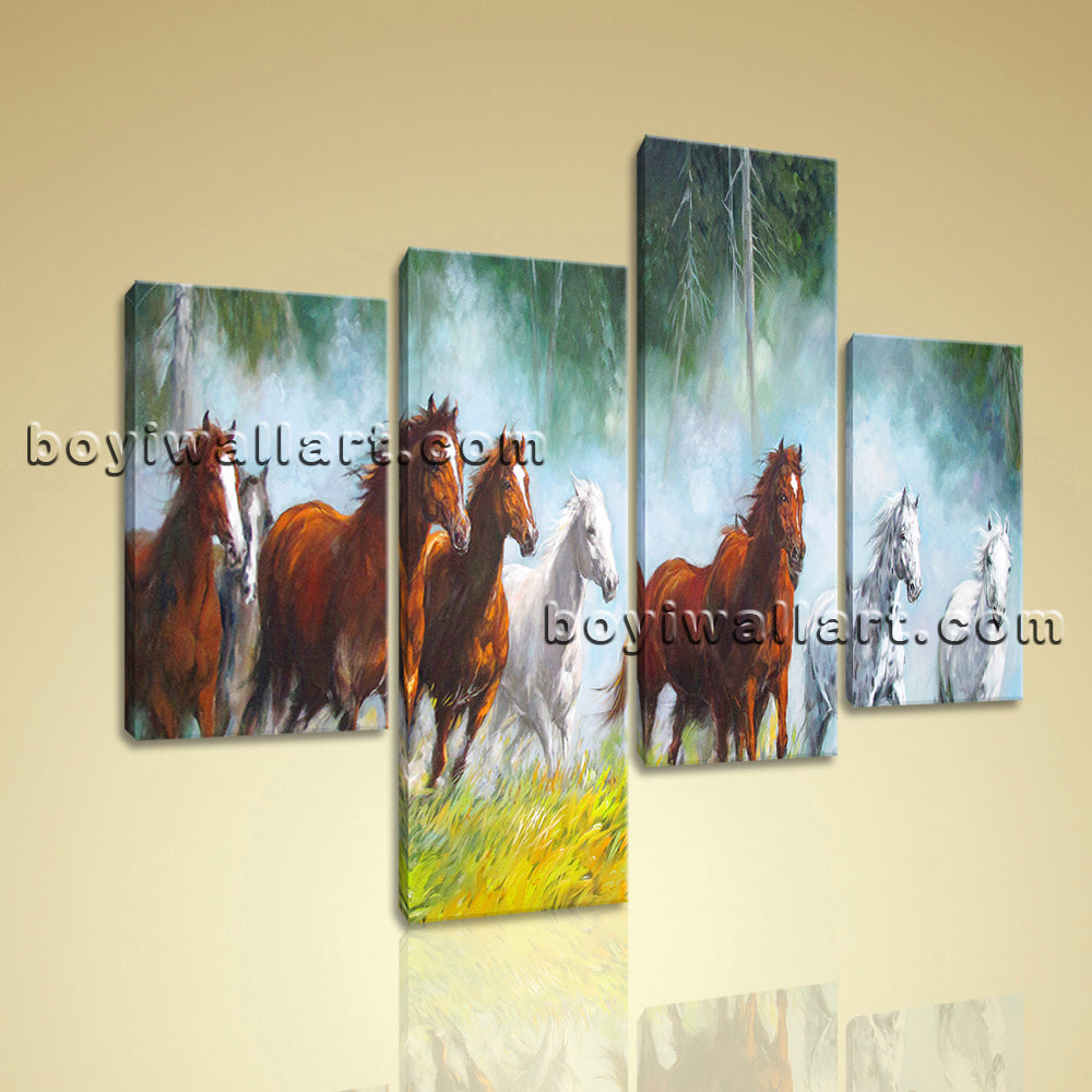 Large Canvas Painting Picture Living Room 4 Pieces Art Print
