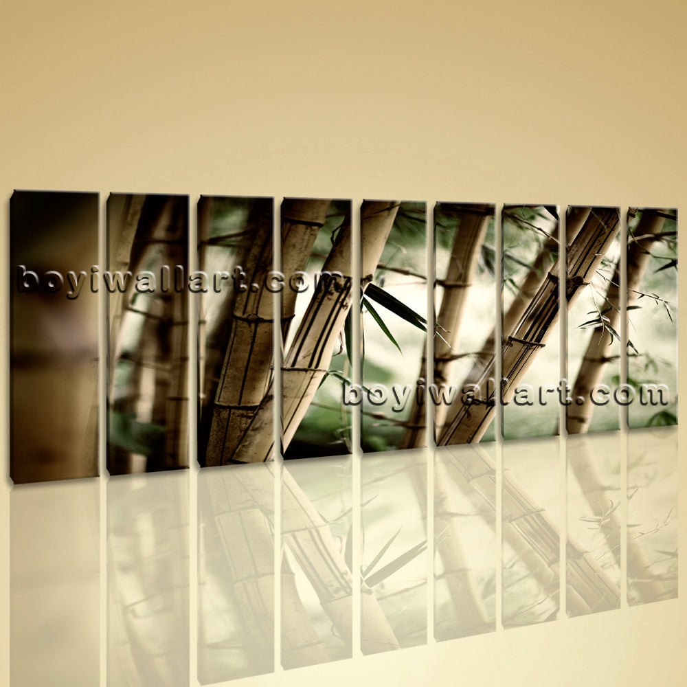 Large Feng Shui Zen Abstract Wall Art Decor Hd Print Canvas Bamboo