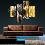 Large Feng Shui Hd Print Buddha Picture Canvas Art Living Room 4 Pieces Giclee