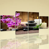 Large Feng Shui Picture Abstract Modern Dining Room Tetraptych Pieces Print