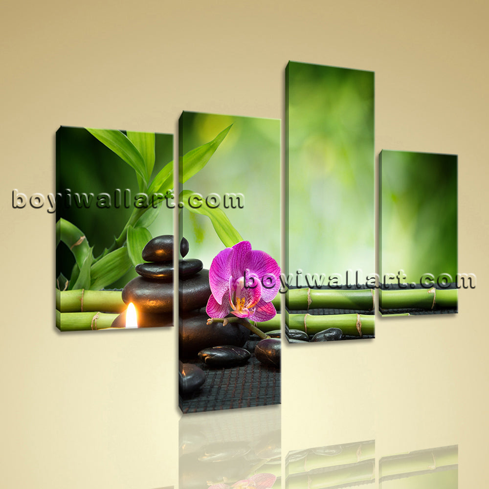 Large Feng Shui Abstract Hd Print Modern Wall Living Room Tetraptych Pieces