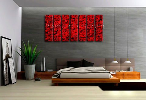 Large Mural Feng Shui Abstract Floral Painting Rose Flowers HD Print Wall Art