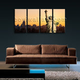 Abstract Landscape New York City HD Print Wall Art On Canvas Statue of Liberty