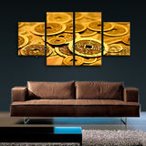 Large Feng Shui Print Abstract Painting Modern Wall Art Dining Room Four Panels