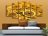 Large Feng Shui Hd Print Abstract Modern Canvas Art Dining Room Hexaptych Pieces