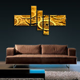Ancient Coin Feng Shui Painting Abstract Wall Art Print On Canvas Contemporary