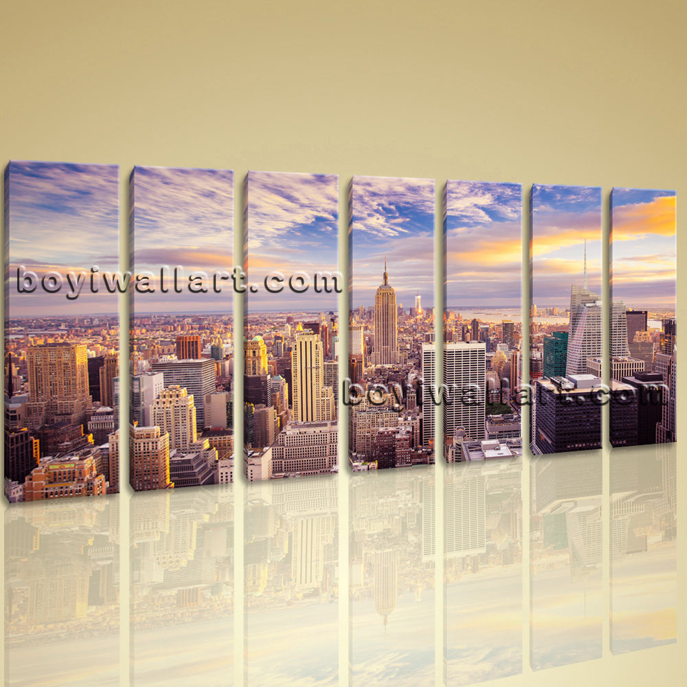 Beautiful Landscape Mural New York City Picture Print Canvas Wall Art Abstract