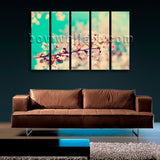 Large Contemporary Abstract Floral Painting On Canvas Print Mural Wall Art