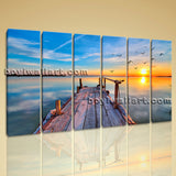 Amazing Sunset Glow Picture HD Print Landscape Large Canvas Wall Art Modern